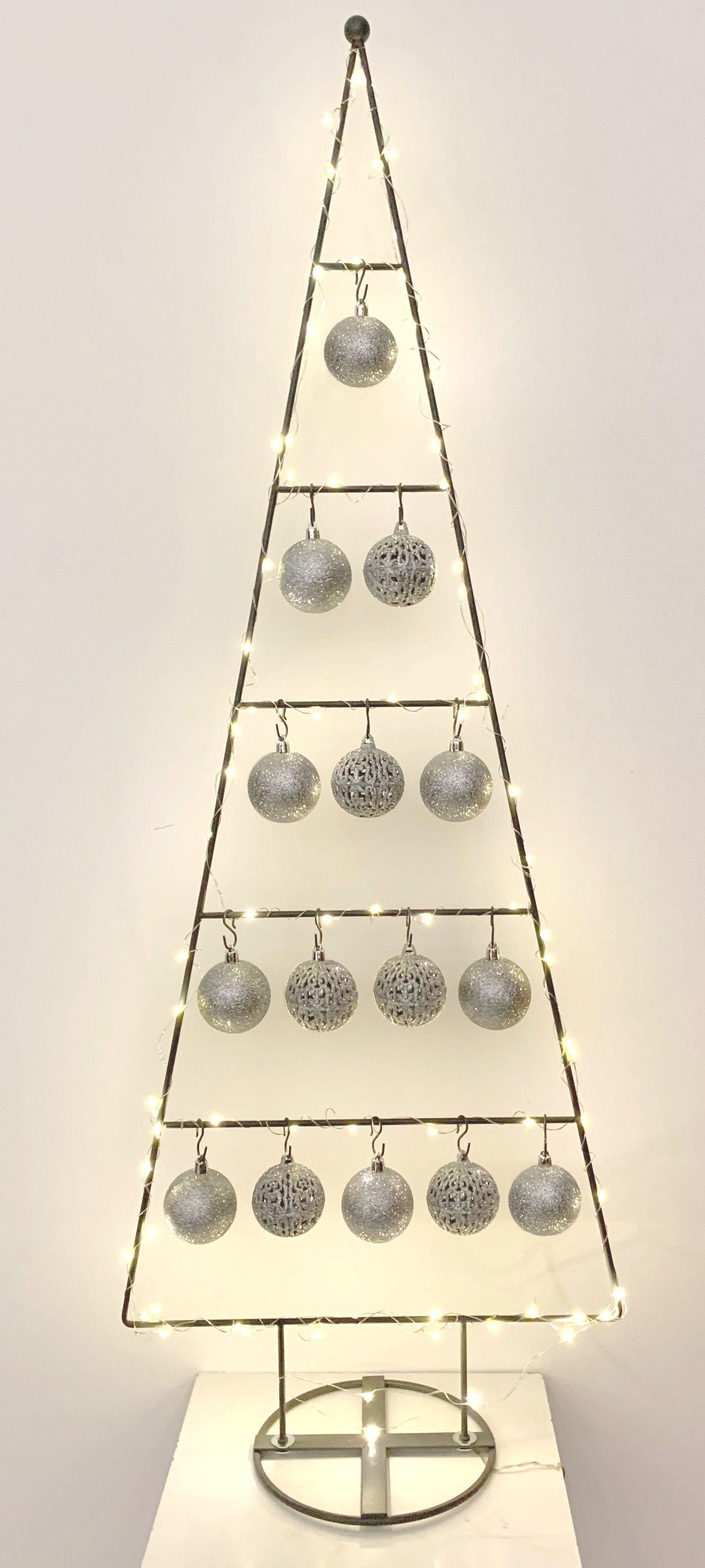 MARC® Weihnachtsbaum Christbaum Dekobaum TRIDENT, silber - 114cm