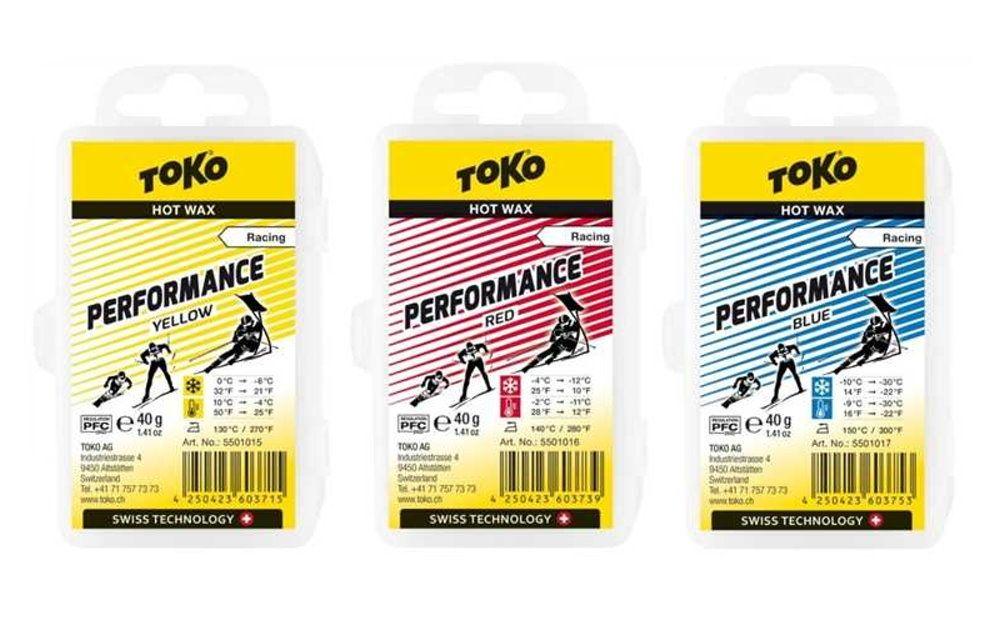 "TOKO Race Wax Serie ""PERFORMANCE"", 3x40g"