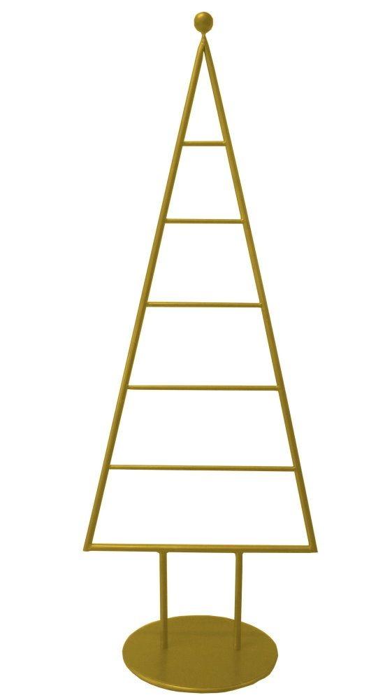 MARC® Weihnachtsbaum Christbaum Metall gold matt lackiert 115cm