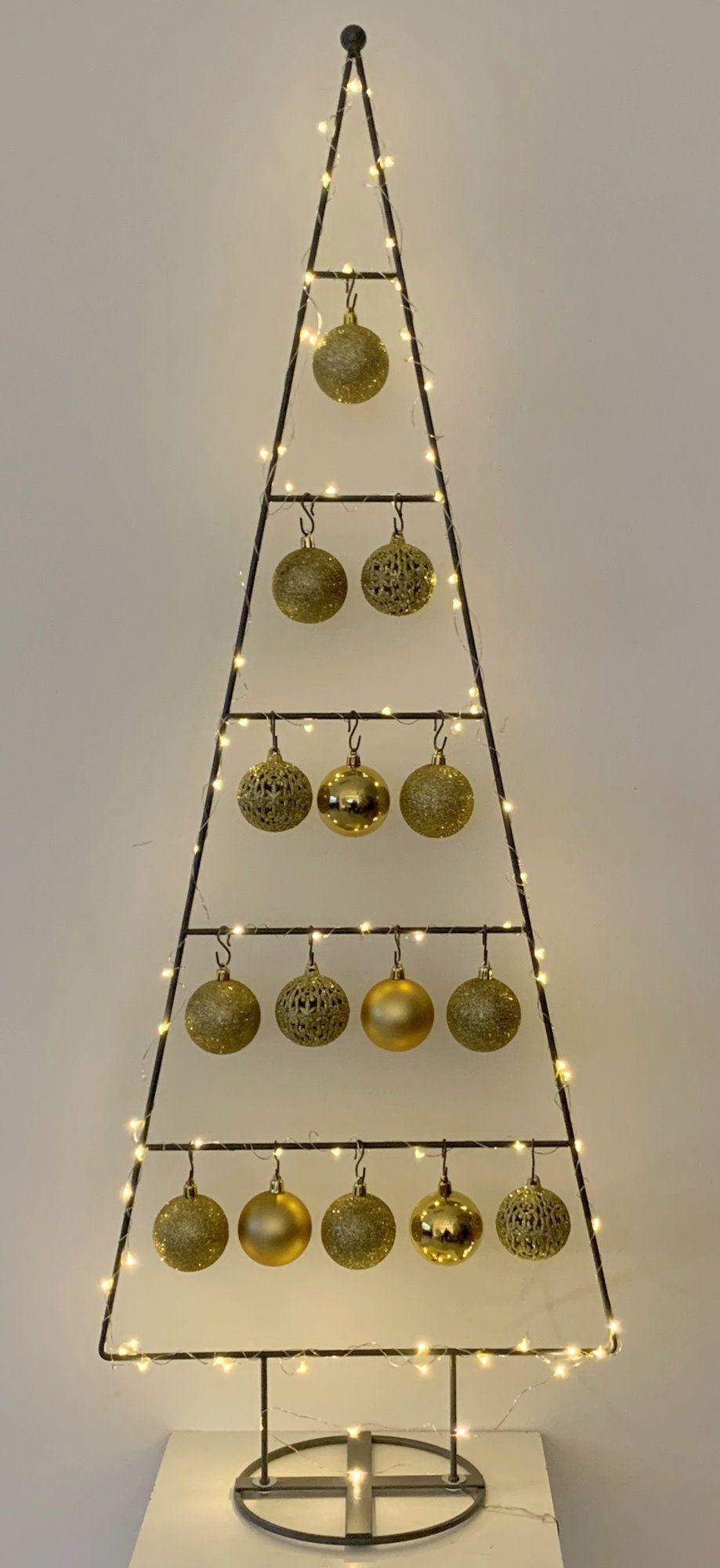 MARC® Weihnachtsbaum Christbaum Dekobaum TRIDENT, gold - 114cm
