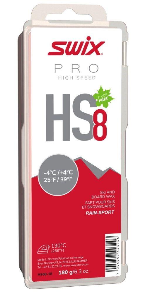 """SWIX Rennwachs """"High Speed"""" HS 8 RED - 180g"""